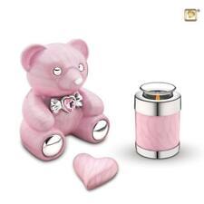 Infant / Child / Boy / Girl Cremation Ashes Urn (Cuddle Memory Bear - Pink)