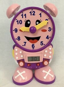 Telly The Teaching Time Clock Pink Baby Toddler Toys Educational Homeschool STEM