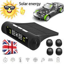 UK Solar TPMS Car Tyre Pressure Monitoring System & 4 Wireless External Sensors