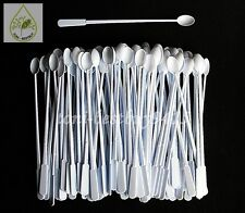 100 Pcs 5 Coffee Tea Mini Spoons Plastic Stirrer Disposable Accessories Utensil