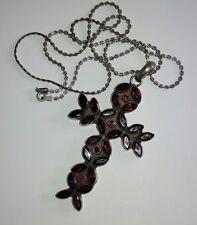 Croce argento e granati antica