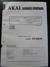 Original Service Manual  Akai Compact Disc Player CD-M640