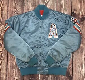 Vintage STARTER NFL Houston Oilers Satin Jacket Size Medium RARE