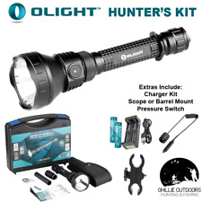 Olight M3XS Ultra Throw LED Torch Hunters Kit Scope Mount Hunting Spotlight M3X