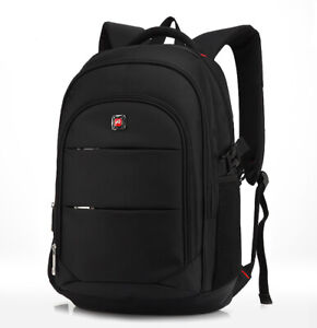 "Travel 17"" Laptop Backpack School Bag Hiking Rucksack Shoulder Swiss Notebook"