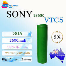 2x Sony US18650 VTC5 2600mAh 30A HIGH CURRENT Drain Rechargeable Lithium Battery