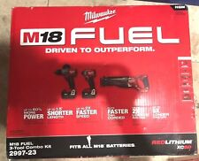 Milwaukee FUEL M18 2997-23 18-Volt 3-Tool Hammer Drill/Driver/Saw Combo Kit New