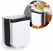 9L Kitchen Cabinet Hanging Trash Can Small Collapsible Mounted Waste Bin