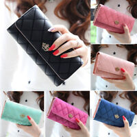 Women Lady Long Card Holder Phone Bag Case Purse Handbag Clutch Leather Wallet