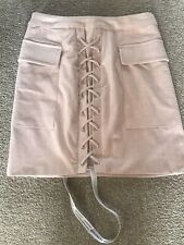 Mistress Rocks Pink Suede Skirt Brand New With Tags Size Small
