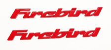 New!!  1993-2002 Pontiac Firebird Door Panel Plate Emblem Letters 93-02 RED