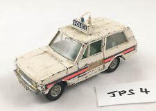 VINTAGE DINKY # 254 POLICE RANGE ROVER ORIGINAL DIECAST CAR 1971-75 PLAY WORN