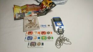 2006 Japanese Digimon Data Squad Blue Digivice Data Link with DNA Chips IC Plate