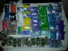 Lot 61 New Rainbow Loom colored rubber bands refill packs UNDEE bandz mix DIY