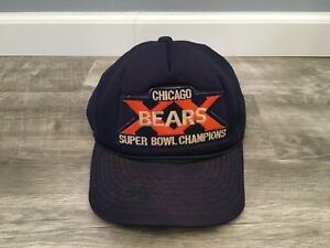 Vtg 1985 Chicago Bears Ditka Era XX Super Bowl Champions NFL SnapBack Cap Hat