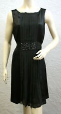 $323 BCBG MAX AZRIA BLACK (JIN65337) BEADED SILK WOVEN DRESS DRESS NWT 10