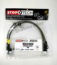 STOPTECH STAINLESS STEEL BRAIDED FRONT BRAKE LINES FOR 12-17 FORD FOCUS EXC. RS
