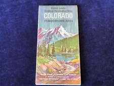 Vintage 1967 Colorado Gesetzliche Lands Außen Freizeit Karte Powderhorn Bereich