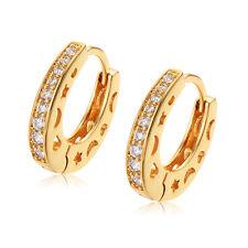 14K Gold Filled Star Moon Heart Classic Hoop Earrings Fashion Jewelry Earings