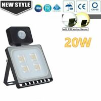 20W Outdoor Motion Sensor Flood Light Waterproof LED Lights Porch Security Lamp