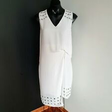 Women's size 10 'WITCHERY' Gorgeous white viscose cocktail shift dress - AS NEW