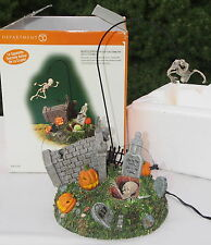 Dept 56 Escape From The Crypt Halloween Village AccessoryRetired Flying Skeleton