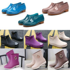 Womens Rain Boots Rubber Short Waterproof Casual Shoes Ankle Boots Rainshoes