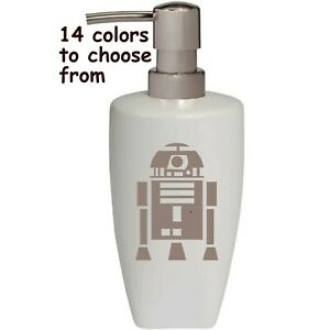 Star Wars R2D2 Robot Soap Lotion Pump dispenser Bathroom Kitchen soap Dispenser
