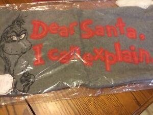 "Pottery Barn Teen The Grinch ""Dear Santa"" Pillow Cover-NWT 12 x 24"