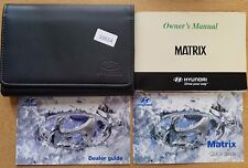 HYUNDAI MATRIX OWNERS MANUAL HANDBOOK WALLET 2001-2005 PACK 16654