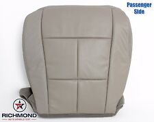 2014 Navigator-Passenger Side Bottom Leather Seat Cover-Double Stitch Seam -Gray