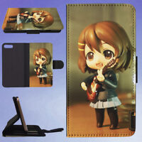 HAIRED FEMALE ANIME CHARACTER FIGURE FLIP WALLET CASE FOR APPLE IPHONE PHONES