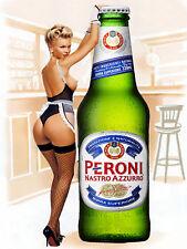Peroni, Retro metal Aluminium Vintage Sign, Man Cave,Bar/Pub