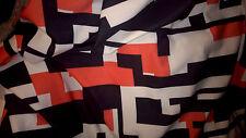 top qualIte ! tissu jersey epais type neoprene gros orange/noir/blanc 100x150cm