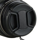 Camera Accessory 58mm Front Lens Cap Snap-on Cover for Nikon Camera with Leash