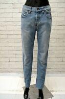 Pantalone Jeans Vita Alta JECKERSON Donna Taglia Size 38 Pants Woman Cotone