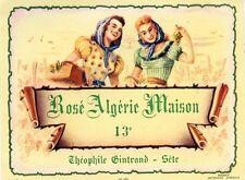 ETIQUETTE VIN / ROSE ALGERIE MAISON / THEOPHILE GINTRAND / SETE