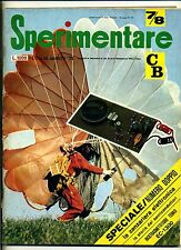SPERIMENTARE#N.7/8 Luglio-Agosto 1975#Rivista Mensile Elettronica Elettrotecnica