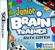 Junior Brain Trainer Math - Nintendo DS