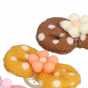 20Pcs Dog Hair Bows Rope Grooming Rubber Band Grooming Accessories Pet Puppy Cat