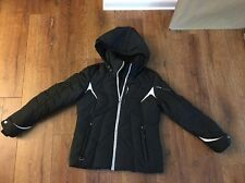 3f8a291a627 ZeroXposur Womens Black Puffer Jacket Fur Trim Detachable Hood Size M