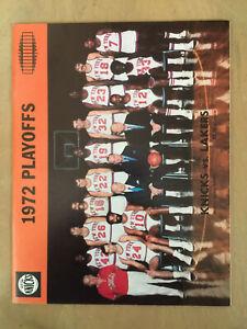1971-72 NBA FINALS LOS ANGELES LAKERS @ NEW YORK KNICKS BASKETBALL PROGRAM