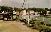Vintage Postcard - Fish Houses And Harbor Scene Kennebunkport Maine ME #4739