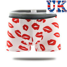 "Men's Sexy Birthday Boxers **Red Lips** To Fit  32""- 40"" ** UK Seller **"