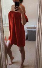 Asos Red Bardot Off Shoulder Mini Dress 6 Holiday Beach
