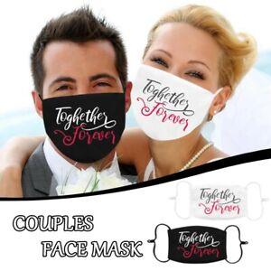 Mehrwegmaske ♥️ Stoffmaske Hochzeit wedding forever together Heirat