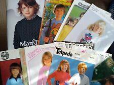 11 CHILDREN'S  KNITTING PATTERNS  &  2 BOOKS  -   SWEATERS, CARDIGANS,  ETC