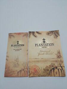 Set of 2 Plantation Rum Booklets