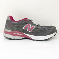 New Balance Womens 990 V3 W990KM3 Gray Pink Running Shoes Lace Up Size 8.5 B