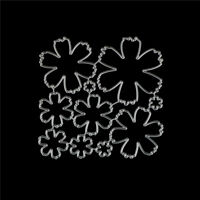 10Pcs Flower Design Metal Cutting Die For DIY Scrapbooking Album Paper Cards MC